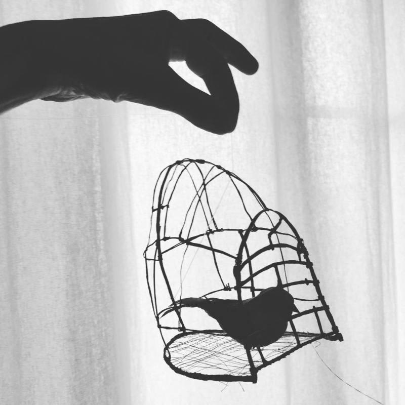 Fil muet (sculpture-cage _ @clemencekna _ oiseau trouvé à Bruxelles.jpg